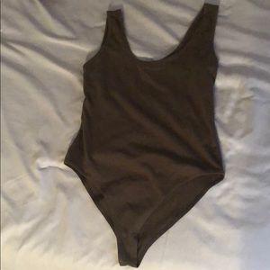 NWOT olive bodysuit